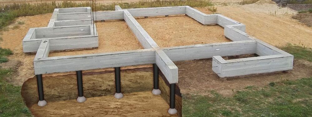 Свайный фундамент ростверком ключ в Подольске